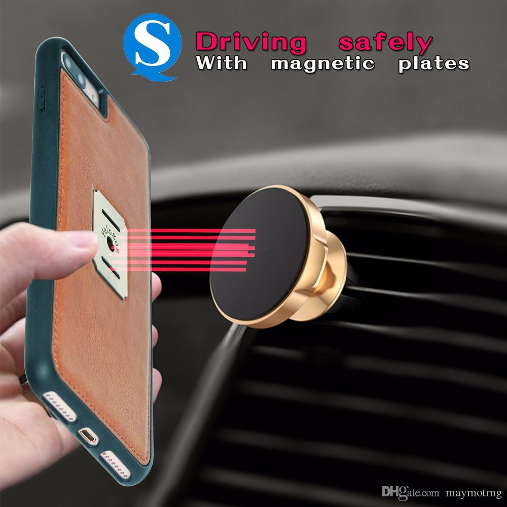 PU Leather Wallet Case For apple X 5 5S SE 6 6S 7 8 Plus Case With Card Slot Original Luxury Magnetic Flip Cases Phone Cover