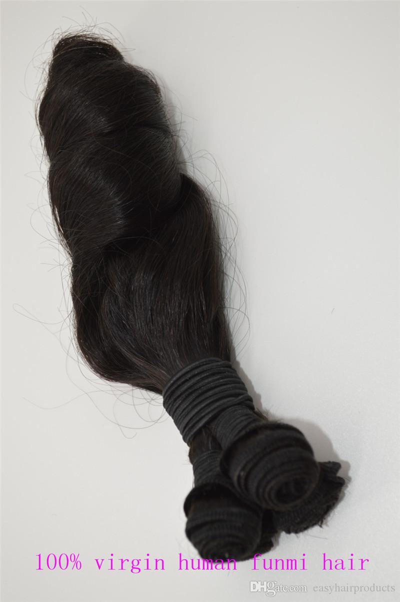 G-EASY Top Quality Cheap Brazilian Hair Weaves Aunty Funmi Hair Russian Spring Curl Human Hair Extension Natural Color