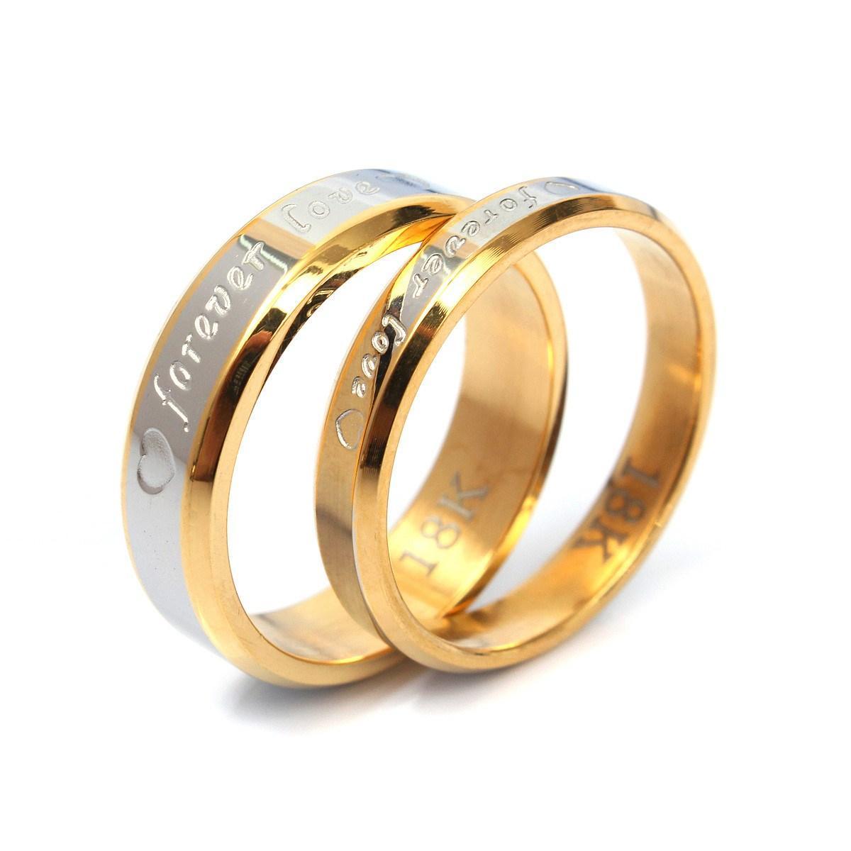 2017 New Couple Rings For Men Women Forever Love Ring 18k Silver ...