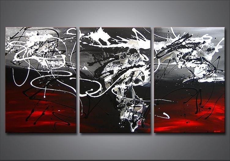 Red and black wall decor