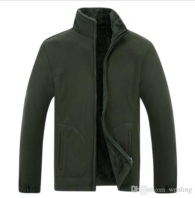 NEW 남성 의류 남성용 소프트 쉘 플리스 캐주얼 자켓 남성 따뜻한 운동복 열 코트 단단한 두꺼운 의류