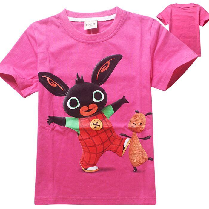25f0f0da716d8 cartoon funny kid T-shirt Bing Bunny cute rabbit pattern T-shirt for 2-6yrs  kid fashion children teenager shirt clothes