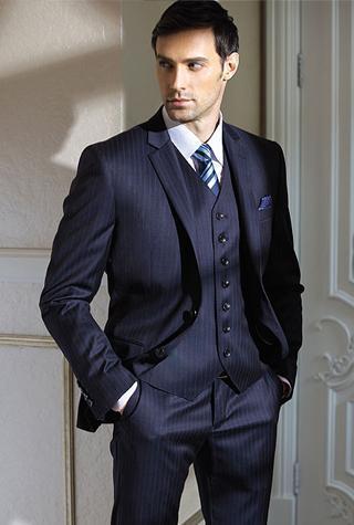 2015 de haute qualité entaille revers marié smokings noce groomsman costume costume de noce veste + pantalon + gilet q127