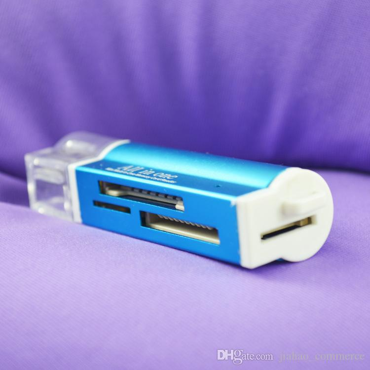 USB 2.0 Alles in één geheugen Multi-kaartlezer voor Micro SD HC TF MS Pro Duo Reader TF-kaart Micro SD-kaartlezer met retailpakket