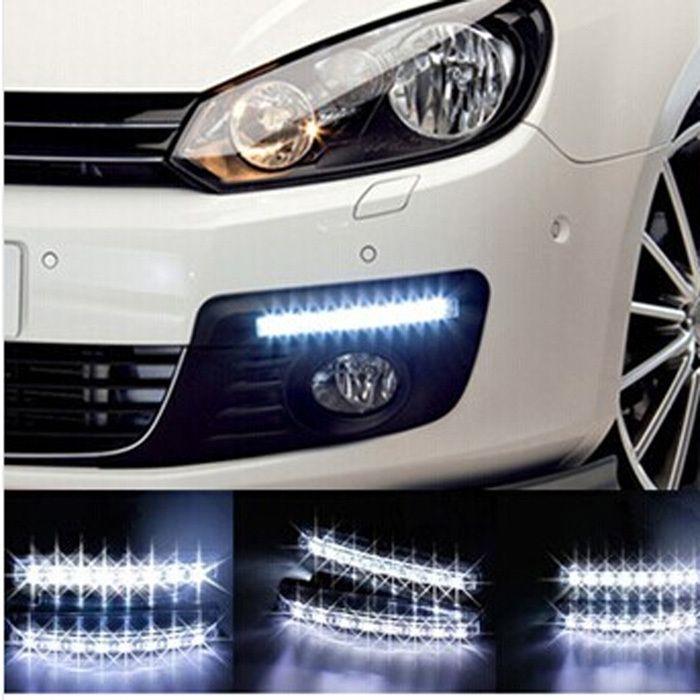 Led Lights For Cars >> 2015 Universal Car Light Car Fog Lights Super White 8 Led Daytime