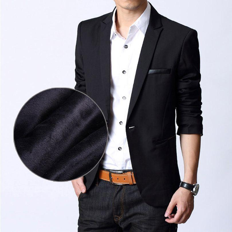 1f8a15b72bc2 2019 Men Blazers 2015 Spring Thick Velvet Mens Black Blazer Suit Jacket  Male Korean Veste Blazer Homme Slim Designer Men Blazers FG1511 From  Shenyan02, ...
