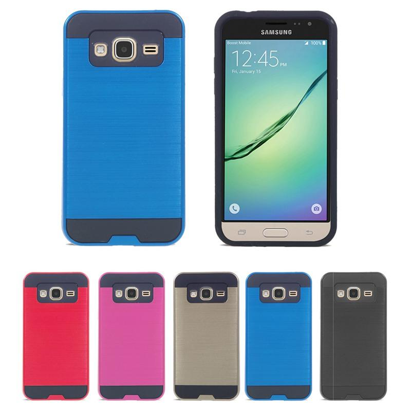 2016 Newest Design Cell Phone Cases Hybrid Tough Slim Armor TPU+PC Shockproof For Samsung Galaxy J3 2 in 1 case