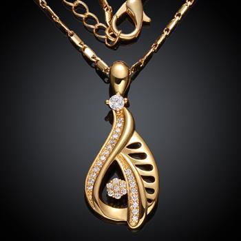 100 Styl Select Mosaic ZIRCON Gold Platinum Gold Róża Złota Wisiorek Naszyjnik Dziewczyna Dama Biżuteria Walentynki Prezent 10 sztuk / partia