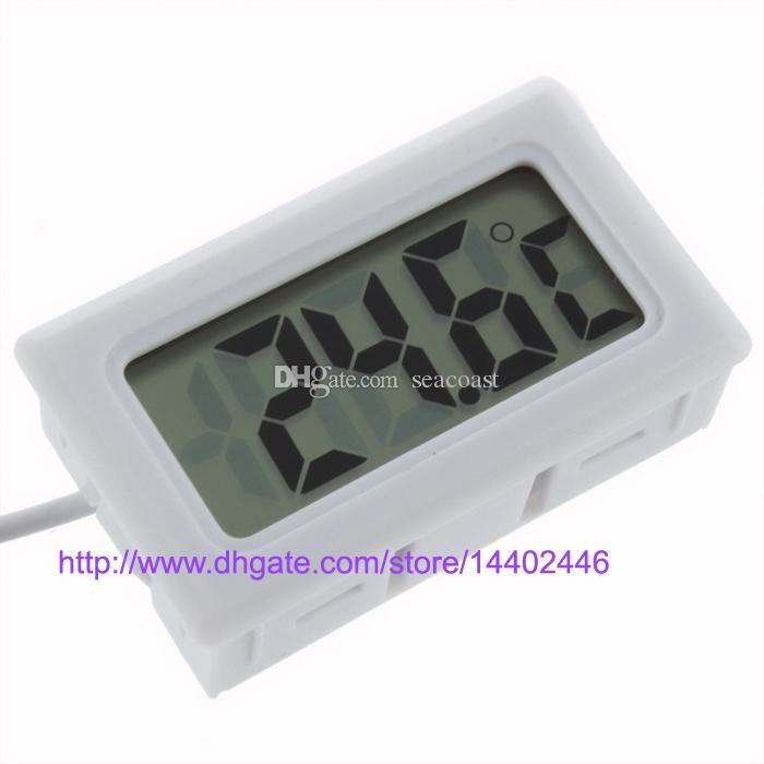 Digital LCD Termômetro Geladeira Frigorífico Freezer Aquário TANQUE de PEIXE Temperatura -50 ~ 110C GT Preto branco cor