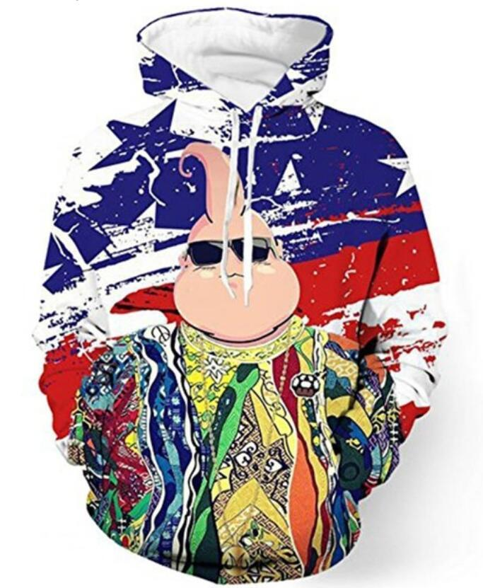 새로운 패션 커플 남자 여자 유니섹스 랩퍼 비기 스몰 / 2pac 투팍 3D 프린트 후드 스웨터 재킷 풀오버 탑 S-6XL TT129