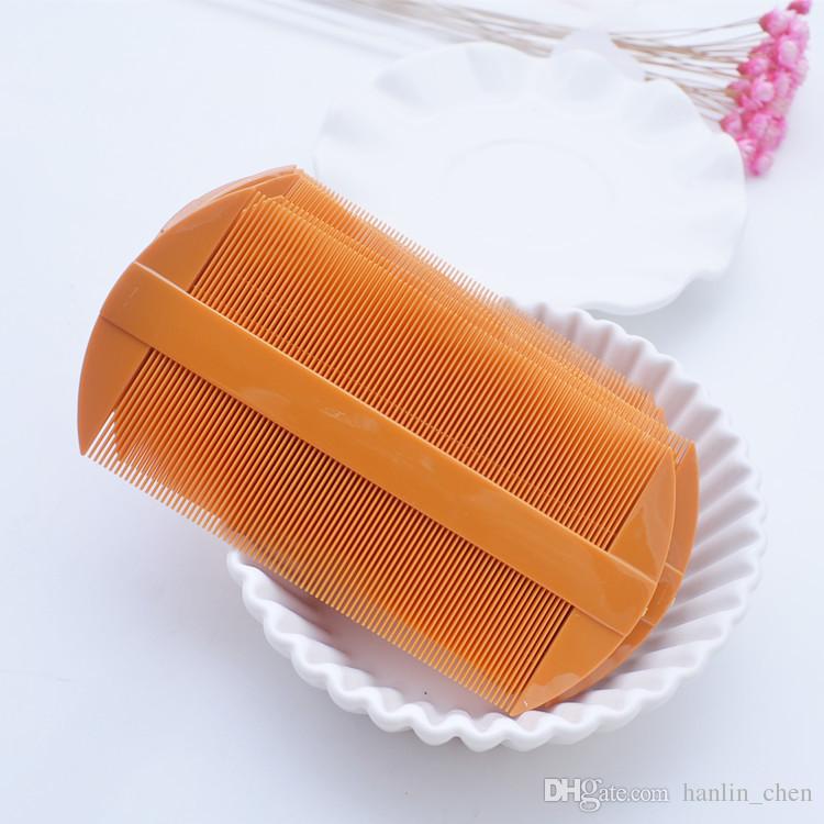 Due pettini di plastica pettini rosso giallo pidocchio capelli donne pettinatura strumenti 11 * 5.5cm