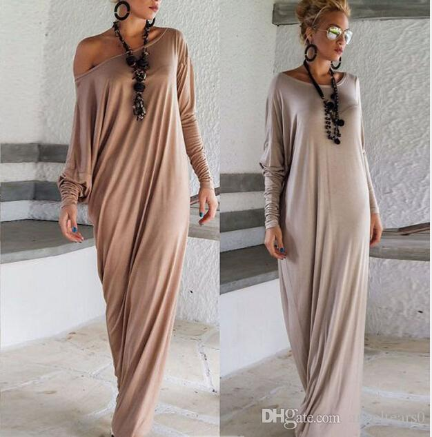 European Style Grey Brown Luxury Women Fashion Floor Length Summer ...