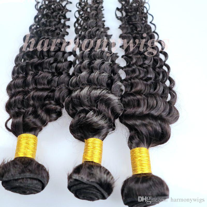 Tramas de cabello humano virgen Paquetes de cabello brasileño Rizado profundo 8-34 pulgadas Sin procesar Peruano Indio mongol Camboyano Extensiones de cabello de visón