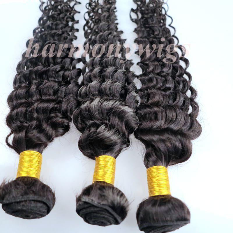 Virgin Human Hair Wefts Brazilian Hair Bundles Deep Curly 8-34inch Unprocessed Peruvian Indian Mongolian Cambodian Mink Hair Extensions