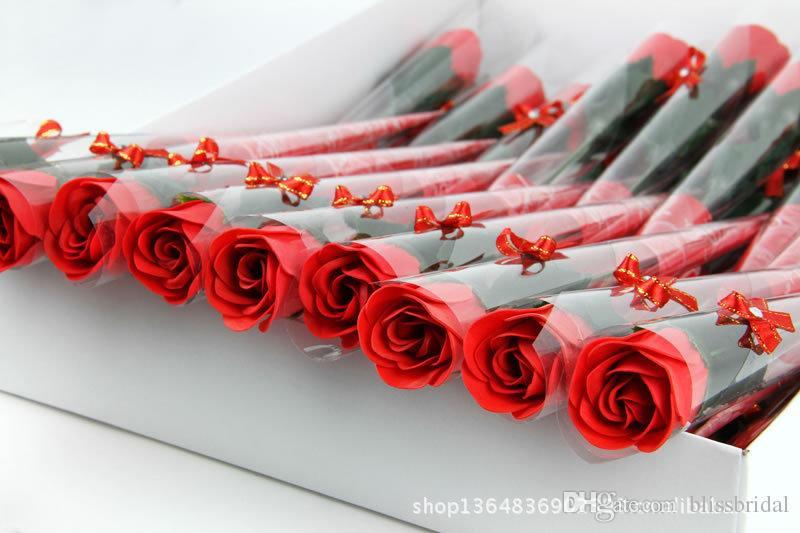 Горячая распродажа красный Fushia синий цвет розы мыло цветок подарки на день матери 30 шт. / Лот свадебный подарок для друзей праздничные атрибуты день святого валентина