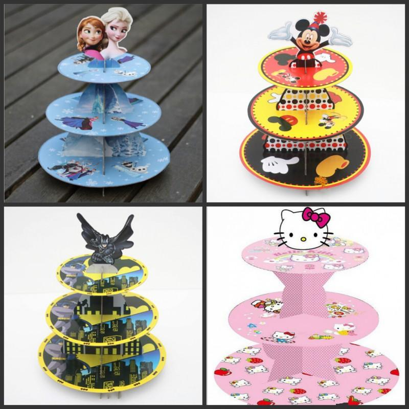 16 Kinds Of Styles Cartoon Cake Toppers 3 Tier Paper Stand For Wedding Xmas Birthday Party Table Center Decoration Supplies Celebration