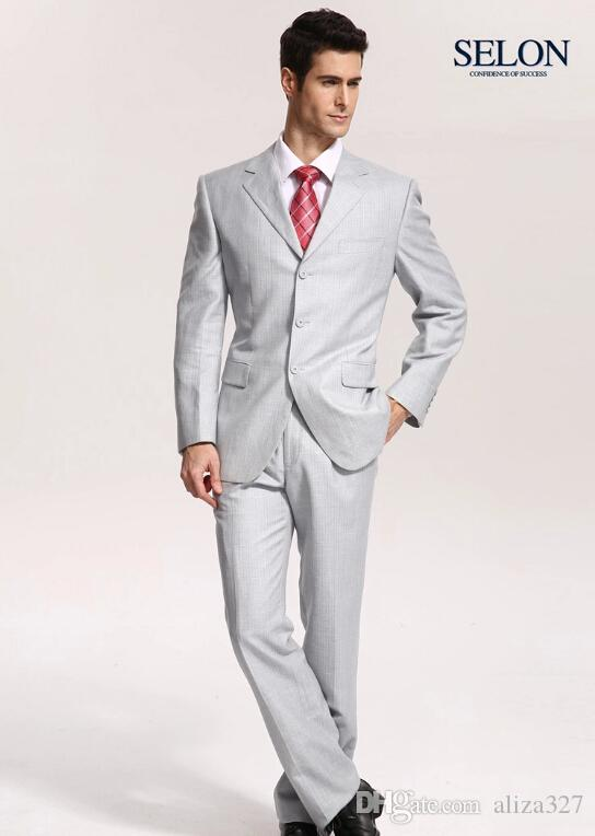 Thin With Light Grey Suits Spring Men Business Suits Wedding The ...