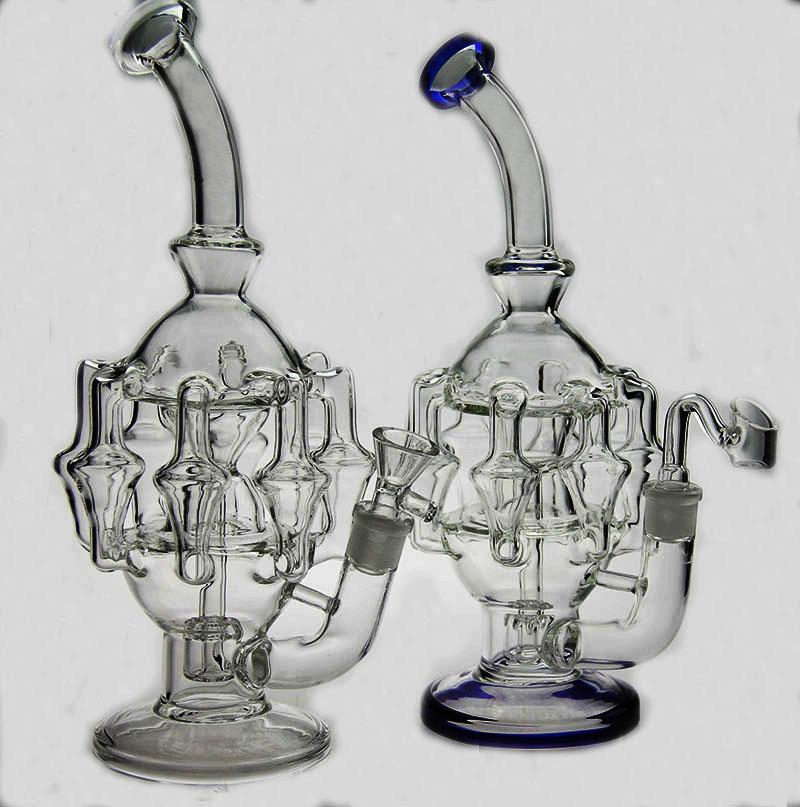 New High quality glass bong water pipe glass bubbler oil rig with female joint have two glass oil rig bowl