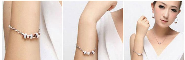 Full Rhinestone 9 Rings Charm Bracelets Jewelry Fashion Austria Crystal Alloy Bracelets For Women Jewelry 4068