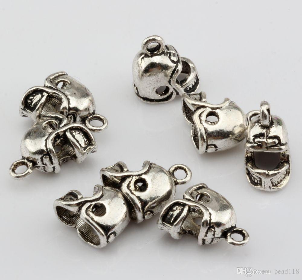 Hot ! Antique Silver / Antique bronze / Antique gold 3D Small Football Helmet Charms pendants DIY Jewelry 13 x11mm
