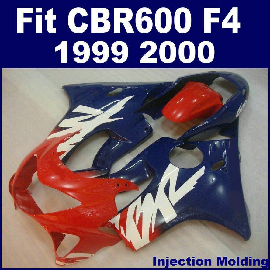 Injection molding parts for HONDA CBR 600 F4 1999 2000 red blue full fairing kit 99 00 CBR600 F4 fairings NBHG