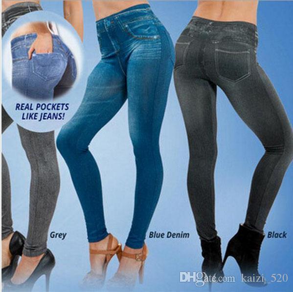 cd5929a622791f 2019 Popular Women Jean Hot Sale Genie Slim Jeggings Winter Women Jeggings  For Women Fashion Leggings With2 Real Pockets From Kaizi_520, $8.55 |  DHgate.Com