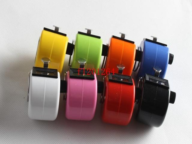 FEDEX DHL Wholesale Colorful 4 Digits Number Plastic Hand Tally Counter for Golf Sport ,