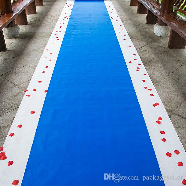 20 Meters/Roll Royal Blue Wedding Theme Nonwoven Fabric Carpet Aisle ...