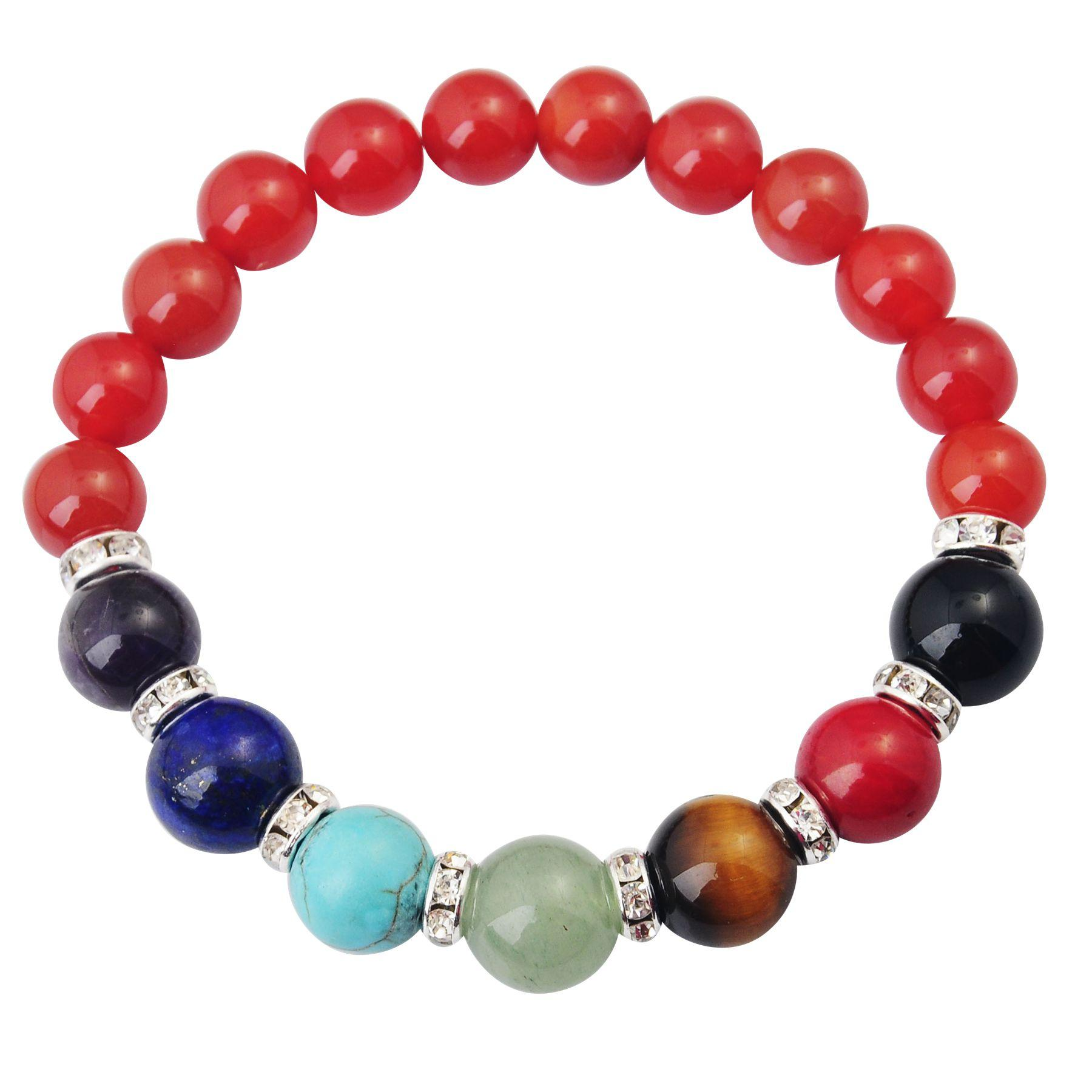 Joya Gift 14SB1037-8MM Natural Rose Quartz Beads bracelet 7 Chakra Gemstone Crystal Healing Reiki women jewelry bangle