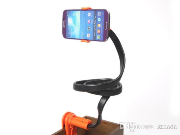 Universal Lazy Bed snake shaped Mobile Phone Holder Stand Mount 105cm  Flexible Neck Bracket For iPhone 6 Plus 5S cell phone c20786ef8d7