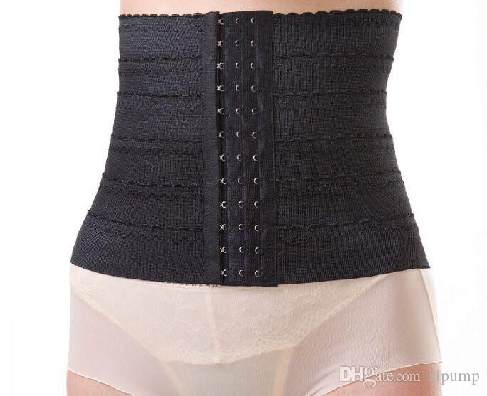 Frauen Taille abnehmen Gürtel Korsett Gummi Nylon Trainer abnehmen Shapewear Training Korsetts Cincher 3 Haken Körper Bauch Shaper Bustier