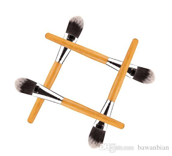 2016 Nueva Marca de Mujer Cepillos de Maquillaje 10 unids / lote Mango De Bambú Máscara Facial Maquillaje Cepillo Cara Belleza Cepillos Envío Gratis