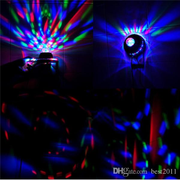 2015 NEW Product Mini Rotating RGB Light 48 LEDs Sunflower LED Stage Light AC100-240V For Party Bar hotel DJ Holiday