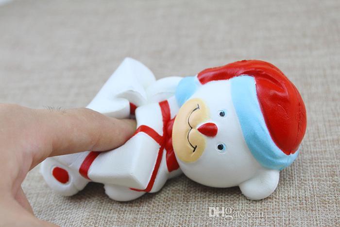 Urso de Natal quente Squishy kawaii Squishies Simulação Comida Para O Anel Chave Corrente de Telefone Cintas Lentas Rising Brinquedos Presentes DHL Transporte Rápido