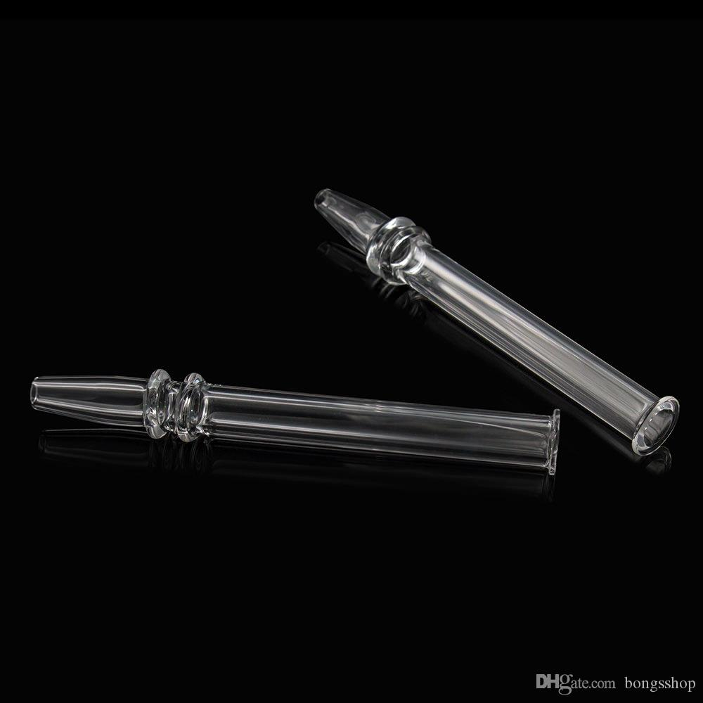 Mini Nektar Toplayıcı Kiti Kuvars Rig Sopa Tırnak ile 5 Inç Temizle Filtre İpuçları Test Saman Su Boruları Sigara Aksesuarları nargile