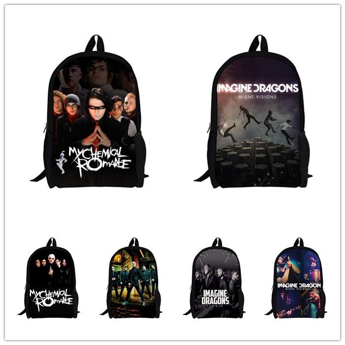 4e7c0960ae Hot Music Band My Chemical Romance Backpack Children School Backpacks