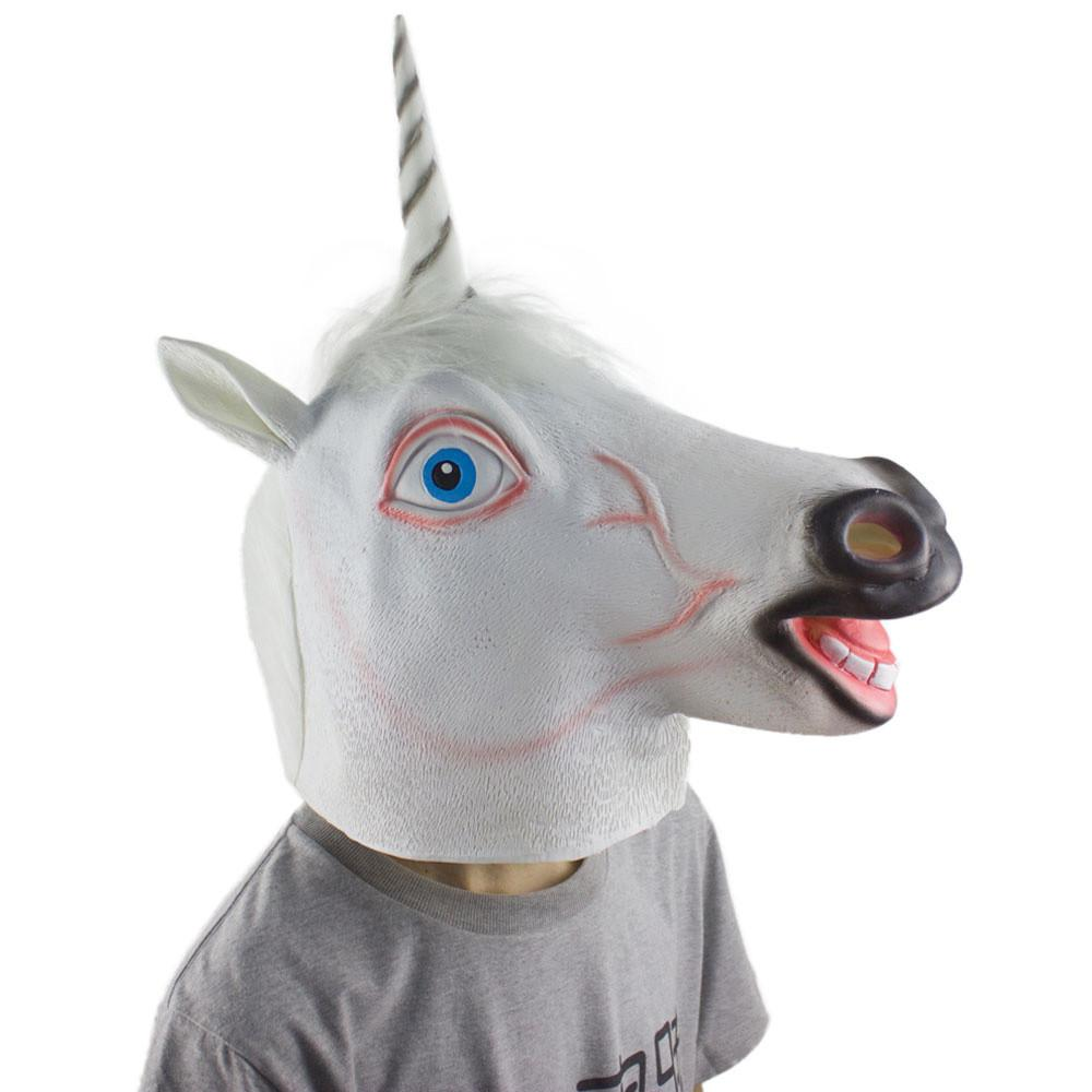 Hot Sale Exaggerated Horse Mask Head Halloween & Christmas Costume ...