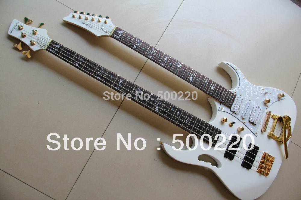 wholesale white 7 model double neck electric guitar 6 string guitar 4 string electric bass. Black Bedroom Furniture Sets. Home Design Ideas