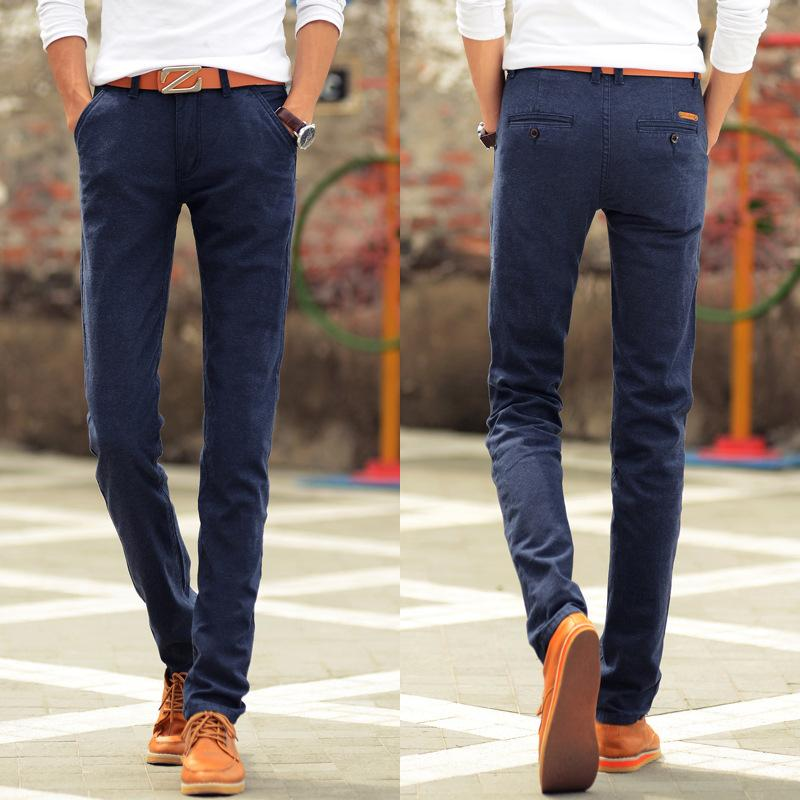 20cf0120e07 2019 Wholesale 2017 New Men Cotton Linen Wild Casual Pants For Mens Slim Fit  Dress Stretch Straight Pants Tapered Business Trousers Plus Size From  Aimea