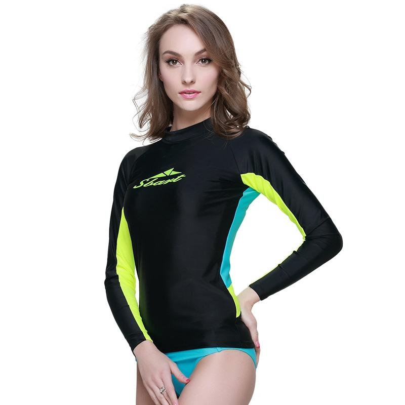 2018 1510 big brand rashguard women swim shirts womens for Womens rash guard shirts