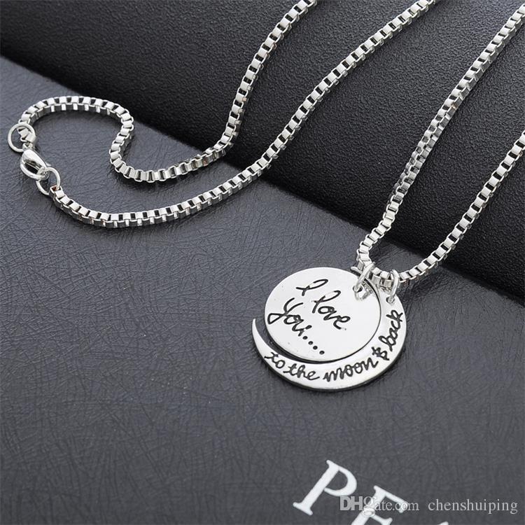 HEISSE neue Großhandelsart und weise ICH LIEBE DICH Halsketten-Aussage-Schmucksache-MAMMA hängender Baum der Leben Halskette Freies Verschiffen