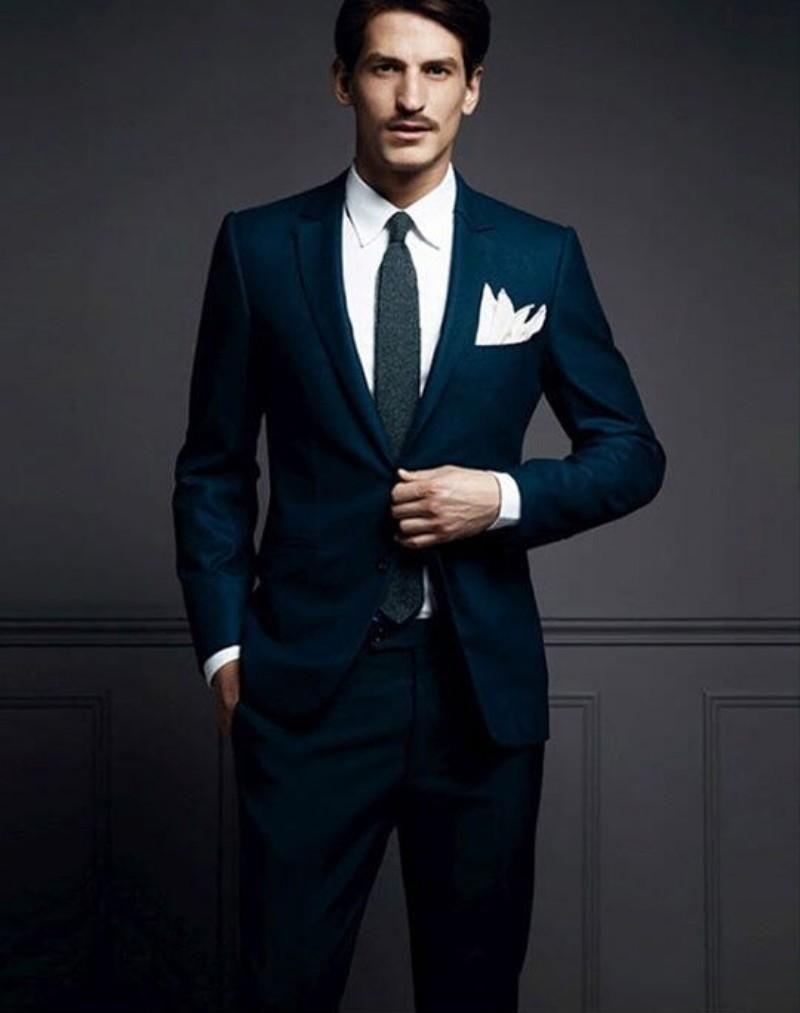 Office Business Bridegroom Groom Tuxedos 2015 Slim Fit Formal ...
