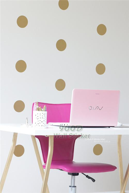 Decal Gold Dot Wall Sticker Removable Home Decoration Art Wall - Wall decals gold dots