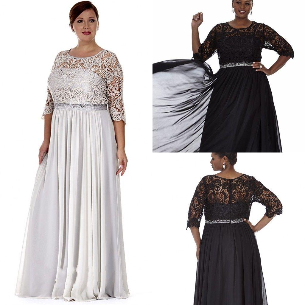 Plus Size Mother Formal Wear 2017 Sash Floor Length Pleats Hollow ...