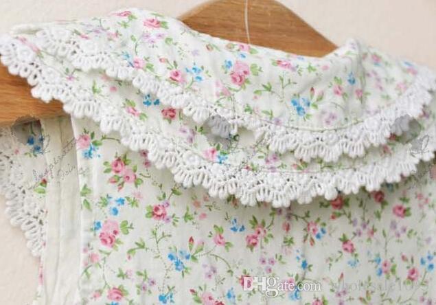The cheapest ! !Children Clothing Girls Dress Floral Lace Fresh Cotton Sarong Dress Children Sleeveless Vest Dress