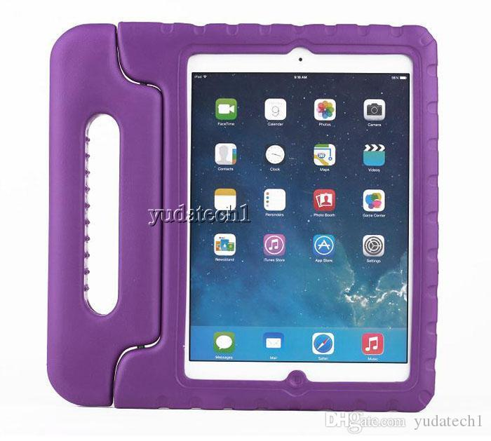 Child Kids Shock Proof Resistencia a la caída de espuma Funda de EVA Soporte de la manija para iPad Mini 1 2