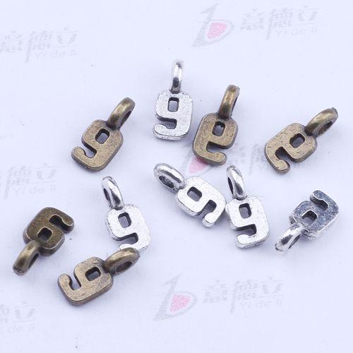 Nova moda de prata / cobre retro digital pingentes fabricação diy jóias pingente fit colar ou pulseiras charme 2500 pçs / lote 2271c