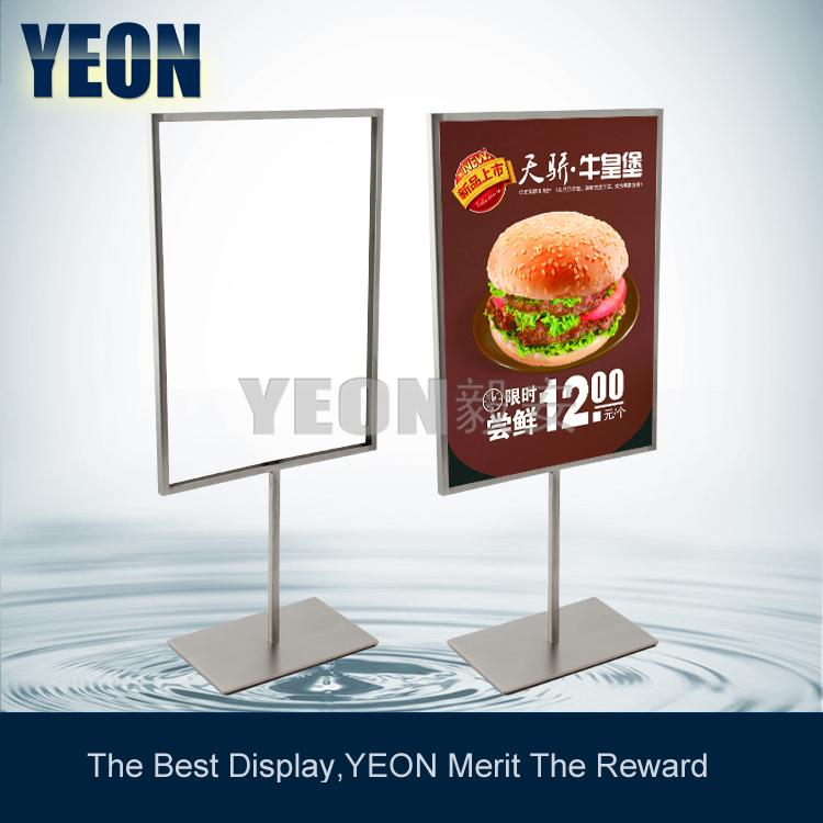 yeon supply table poster board display stand stainless steel sign