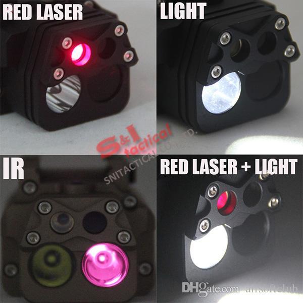 DBAL-PL Visible Red Laser Pointer/White Light LED/IR Laser/IR LED Illuminator Dark Earth