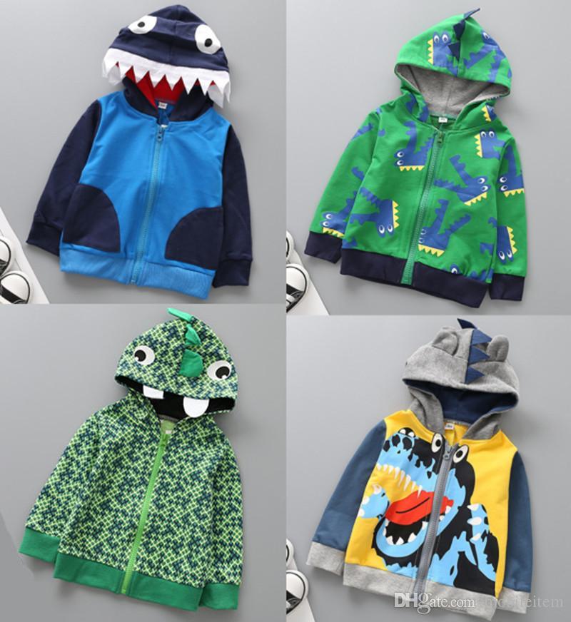 gro handel baby kinder kleidung jacken outwear boy cartoon krokodil dinosaurier muster terry. Black Bedroom Furniture Sets. Home Design Ideas